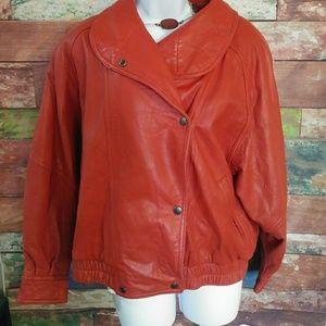Preston & York Vintage Red Leather Jacket